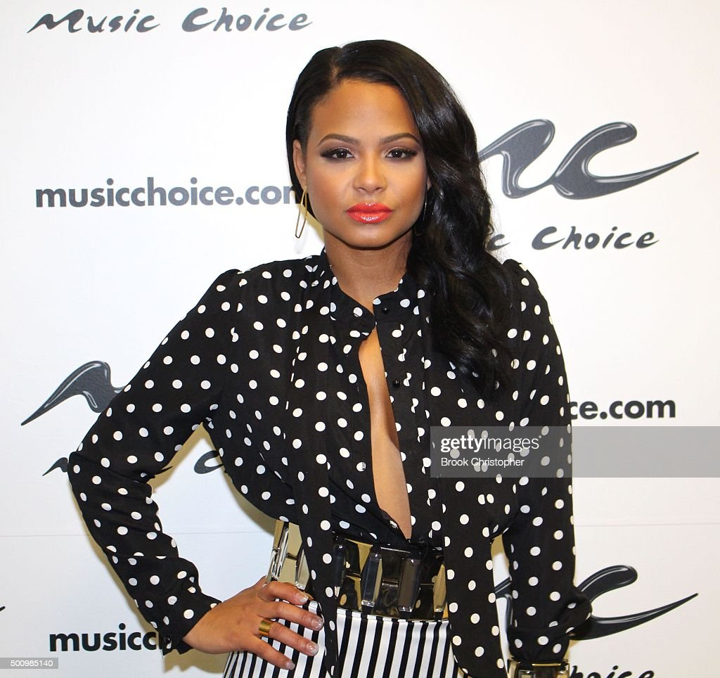 "Christina Milian Visits ""Music Choice"""