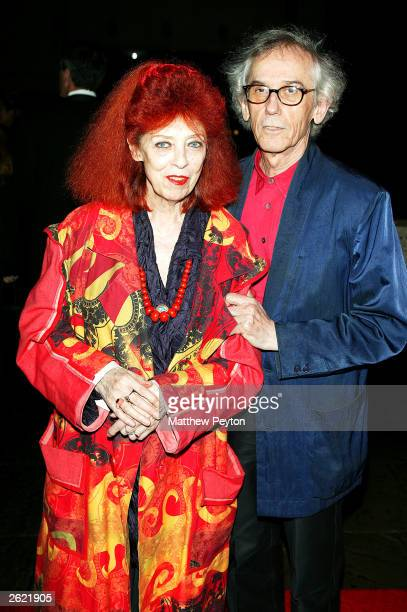 Artist Christo and JeanneClaude attend the 2003 Whitney Gala celebrating American Minimalist Painter and Sculptor Ellsworth Kelly's 80th birthday at...