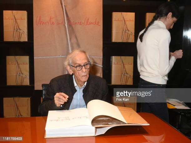 Artist Christo Vladimirov Javacheff attends the Christo Book Signing at Taschen Paris Store on October 17 2019 in Paris France
