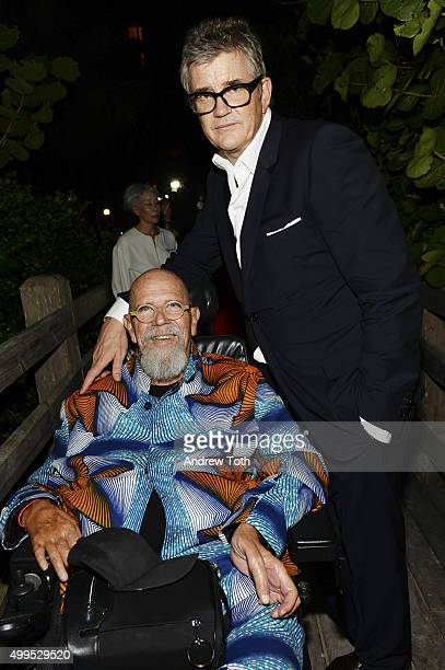 Artist Chuck Close and Jay Jopling attend White Cube Vinyl Factory Soho Beach House KickOff Party with Bombay Sapphire to Celebrate Art Basel Miami...