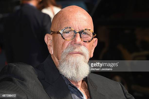 Artist Chuck Close attends the first taping of 'The Late Show With Stephen Colbert' on September 8 2015 in New York City