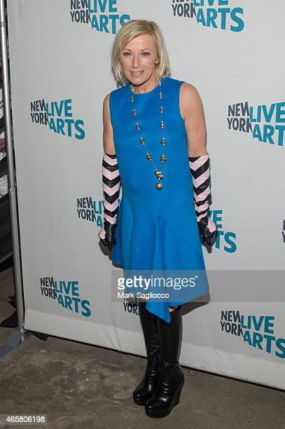 Artist Cindy Sherman attends the New York Live Arts 2015 Gala at SIR Stage37 on March 10 2015 in New York City