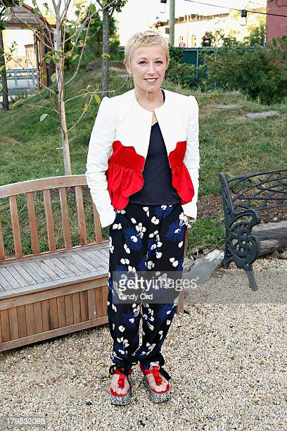 Artist Cindy Sherman attends the Rachel Comey fashion show during MercedesBenz Fashion Week Spring 2014 at the Pioneer Works Center for Arts...