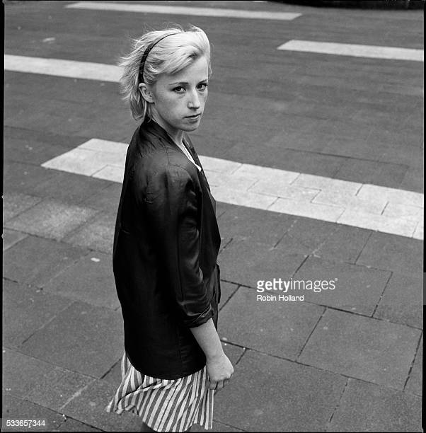 Artist Cindy Sherman is photographed in Kassel Germany in 1982