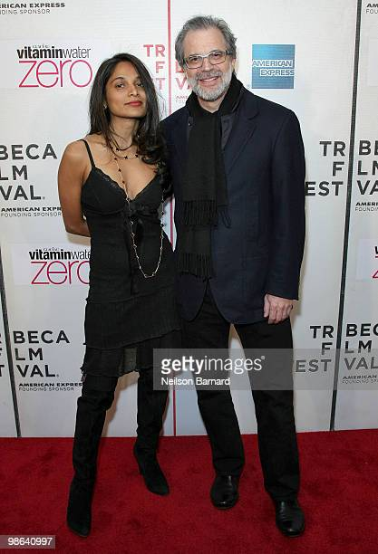 """Artist Clifford Ross and Gayatri Devi attend the premiere of """"Nice Guy Johnny"""" during The 2010 Tribeca Film Festival at the Tribeca Performing Arts..."""