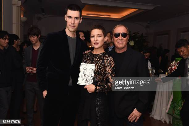 Artist Clym Evernden actress Kate Hudson and designer Michael Kors attend the Michael Kors And Vogue Japan Celebrate Kate Hudson's Work With Watch...