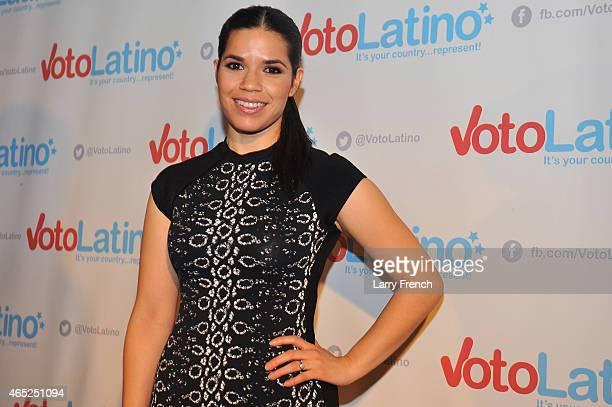 Artist Coalition CoChair America Ferrera attends Voto Latino's 10th Anniversary Celebration at Hamilton Live on March 4 2015 in Washington DC