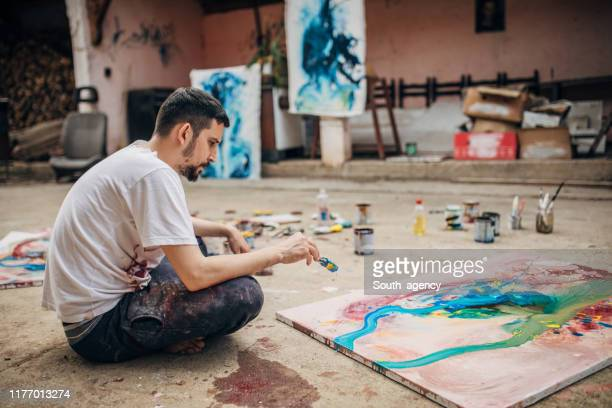 artist contemplating - artistic product stock pictures, royalty-free photos & images