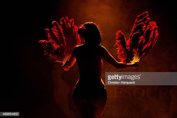 Artist Daisy Lovelace peforms on stage during Berlin Burlesque Festival at Heimathafen Neukoelln on October 2 2014 in Berlin Germany