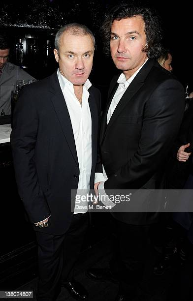 Artist Damien Hirst and Ant Genn attend the Motilocom Party to celebrate the month of 'Love' at Le Baron At Embassy on January 31 2012 in London...