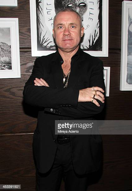 Artist Damien Hirst at the Tracey Emin dinner hosted by Phillips and Vanity Fair at Cecconi's at Soho Beach House on December 3 2013 in Miami Beach...