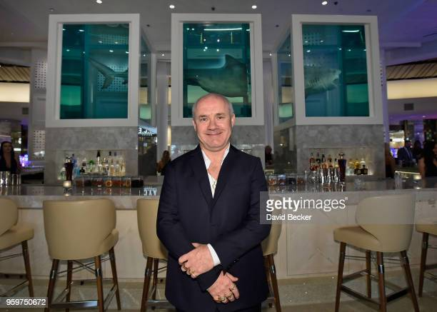 Artist Damien Hirst attends the From Dust To Gold preview party at the Palms Casino Resort on May 17 2018 in Las Vegas Nevada