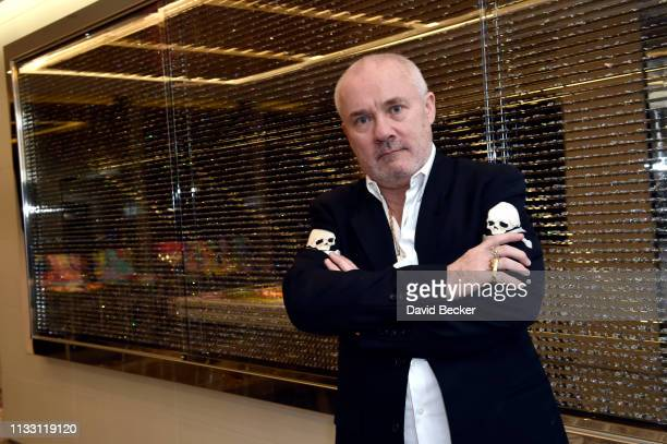 Artist Damien Hirst attends the The Empathy Suite designed by Damien Hirst unveiling at Palms Casino Resort on March 01 2019 in Las Vegas Nevada