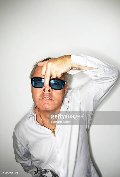 Artist Damien Hirst is photographed for the Observer on September 14 2010 in London England