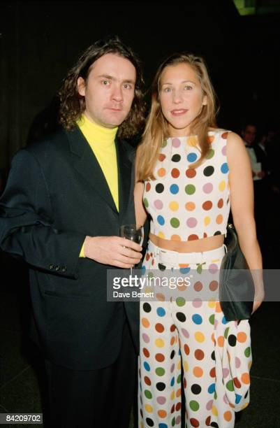 Artist Damien Hirst, winner of the Turner Prize, with his girlfriend Maia Norman during a party at the Tate Gallery in London, 28th November 1995....