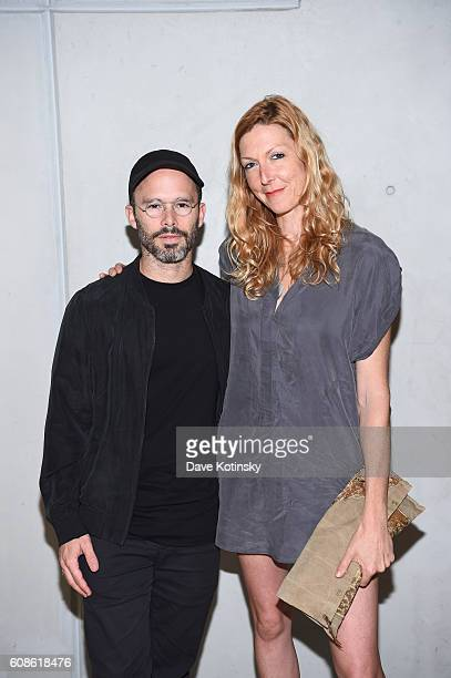 Artist Daniel Arsham and Film Director Megan Raney Erins attends the Daniel Arsham Colorblind Artist In Full Color at Spring Place on September 19...
