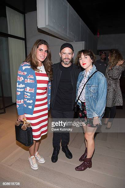 "Artist Daniel Arsham and Piera Gelardi attend the Daniel Arsham ""Colorblind Artist: In Full Color"" at Spring Place on September 19, 2016 in New York..."