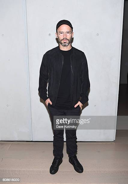 "Artist Daniel Arsham attends the Daniel Arsham ""Colorblind Artist: In Full Color"" at Spring Place on September 19, 2016 in New York City."