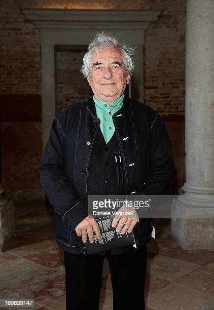 Artist Daniel Buren attends a private lunch and preview of When Attitudes Become Form Bern 1969/Venice 2013 hosted by Miuccia Prada and Patrizio...