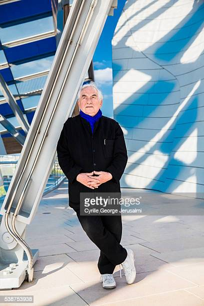 Artist Daniel Buren is photographed for Self Assignment on April 1 2016 in Paris France