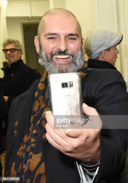Artist Daniel Elian Lille attends Lenedy Angot Calendar 2018 launch at Galerie Fabrice Hybert on December 1 2017 in Paris France