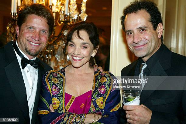 Artist Daniel Maltzman actress Brooke Adams and actor Tony Shalhoub attend the Junior League's An Evening in the Ciy of Light Gala Benefit at the...