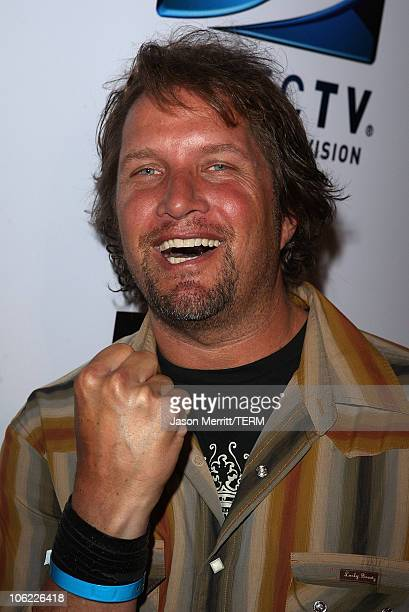 Artist Daniel Maltzman attends DIRECTV's Championship Gaming Series kick off party for the world final series at Barker Hanger on July 15 2008 in...
