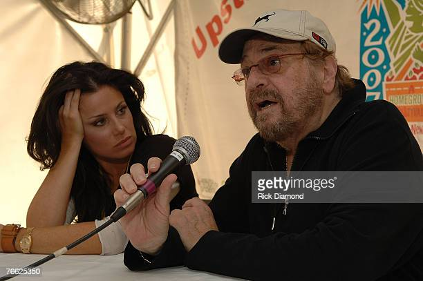 Artist Danielle Evin and Producer Phil Ramone during a press confrence at Farm Aid 2007 at ICAHN Stadium on Randall's Island NY September 92007