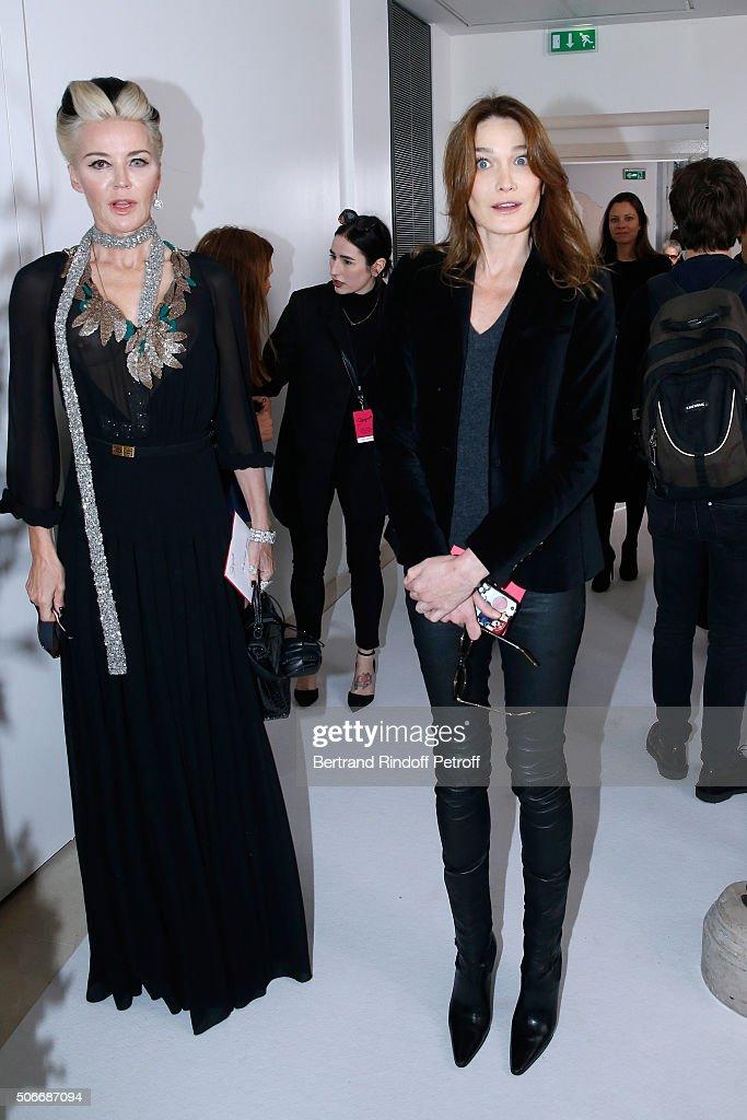 Schiaparelli : Front Row - Paris Fashion Week - Haute Couture Spirng Summer 2016