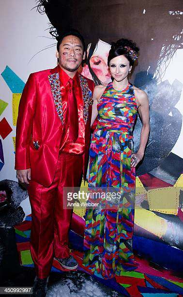 Artist David Choe and alice olivia Designer Stacey Bendet arrives to alice olivia By Stacey Bendet And David Choe Celebrate A Night Of Fashion And...