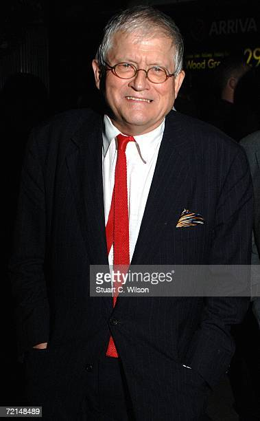 Artist David Hockney attends the VIP private viewing party of 'David Hockney Portraits' exhibition sponsored by Burberry at the National Portrait...