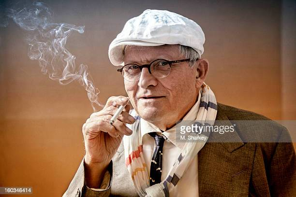 Artist David Hockney is photographed for Out Magazine on September 26 2012 in London England PUBLISHED IMAGE