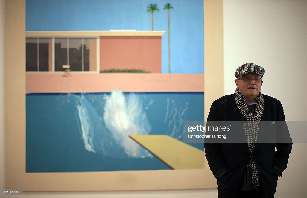 David Hockney Visits The New Nottingham Contemporary Gallery : News Photo