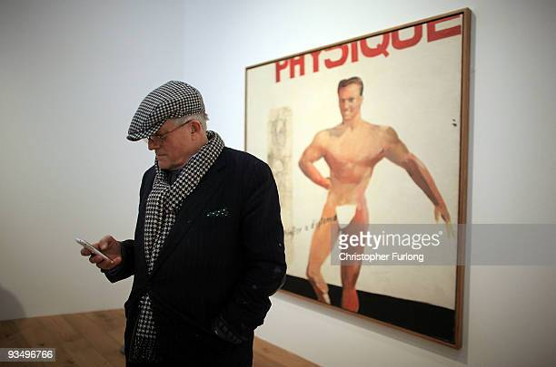 Artist David Hockney stands by 'Life painting for a diploma' one of his works on display at the new Nottingham Contemporary art space which is...