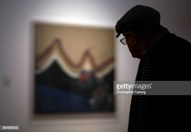 Artist David Hockney views some of his work during a tour of the new Nottingham Contemporary art space which is holding a major retrospective of his...