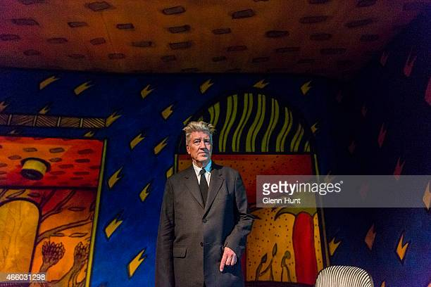 Artist David Lynch at the opening of his exhibition Between Two Worlds at Gallery of Modern Art on March 13 2015 in Brisbane Australia Lynch is the...