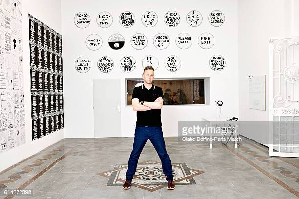 Artist David Shrigley is photographed for Paris Match on September 23 2016 in Toulouse France