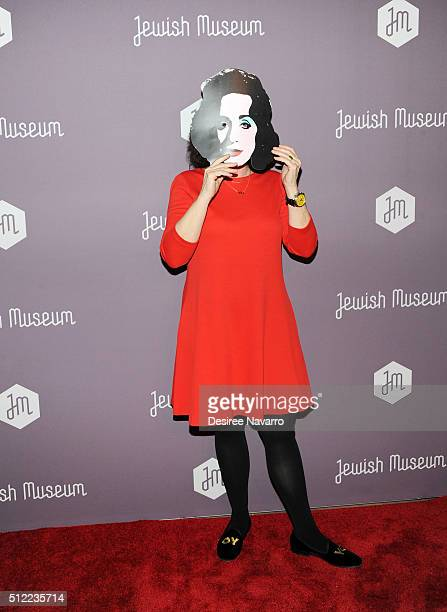Artist Deborah Kass attends The Jewish Museum's Purim Ball 2016 at Park Avenue Armory on February 24 2016 in New York City