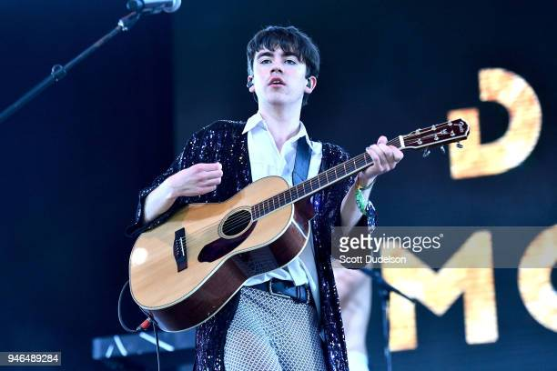 Artist Declan McKenna performs on the Gobi stage during week 1 day 2 of the Coachella Valley Music and Arts Festival on April 14 2018 in Indio...