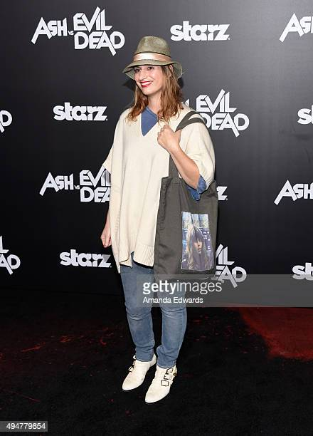 """Artist Diva Zappa arrives at the premiere of STARZ's """"Ash Vs Evil Dead"""" at TCL Chinese Theatre on October 28, 2015 in Hollywood, California."""