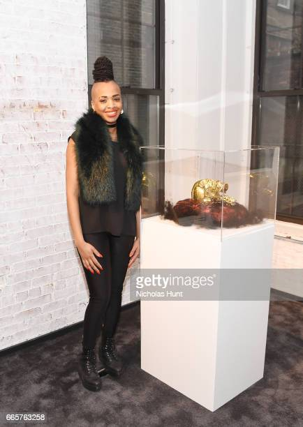 Artist Doreen Garner attends HBO's The HeLa Project Exhibit For The Immortal Life of Henrietta Lacks on April 6 2017 in New York City