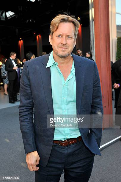 Artist Doug Aitken attends the 2015 MOCA Gala presented by Louis Vuitton at The Geffen Contemporary at MOCA on May 30 2015 in Los Angeles California...