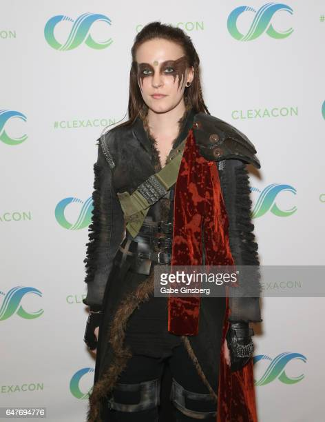 Artist Dylan Holt of Tennessee dressed as the character Lexa from The 100 television series attends the ClexaCon 2017 convention at Bally's Las Vegas...