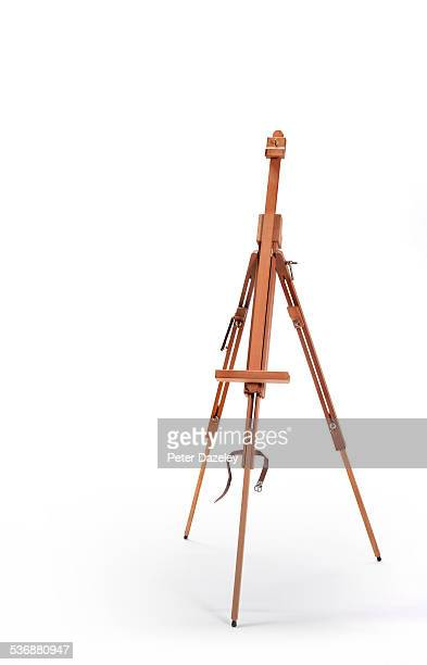 Artist easel with copy space
