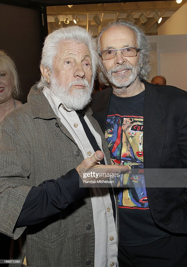 Artist Ed Moses and Musician-Artist Herb Alpert attend the Herb Alpert Exhibition of Paintings and Sculpture at Bergamot Station on May 4, 2013 in Santa Monica, California.