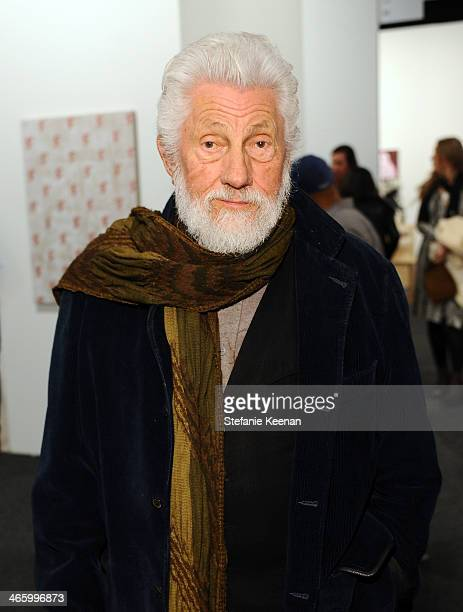 Artist Ed Moses attends the Art Los Angeles Contemporary 2014 opening night at Barker Hangar on January 30 2014 in Santa Monica California