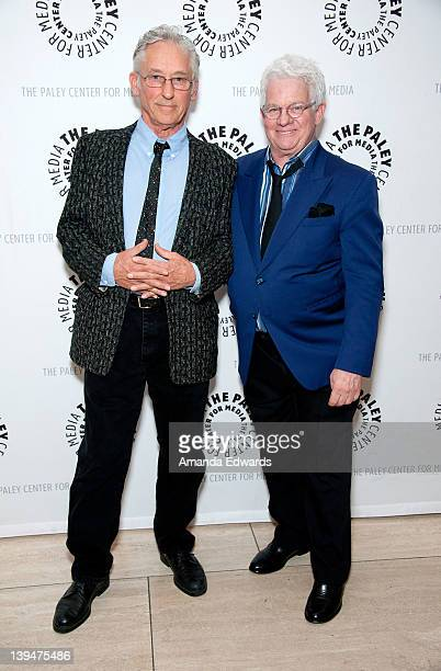 Artist Ed Ruscha and producer Spike Jones Jr arrive at The Paley Center for Media Presents A Centennial Salute To Spike Jones The Godfather Of...