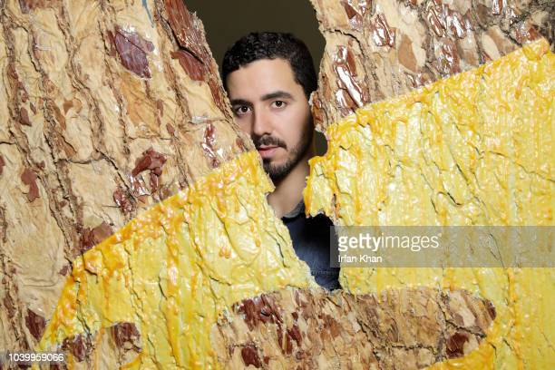 Artist Eddie Aparicio is photographed for Los Angeles Times on August 17 2018 in Los Angeles California PUBLISHED IMAGE CREDIT MUST READ Irfan...