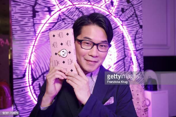 Artist Eddie Kang during the MCM X Eddie Kang launch event at KaDeWe on March 6, 2018 in Berlin, Germany.