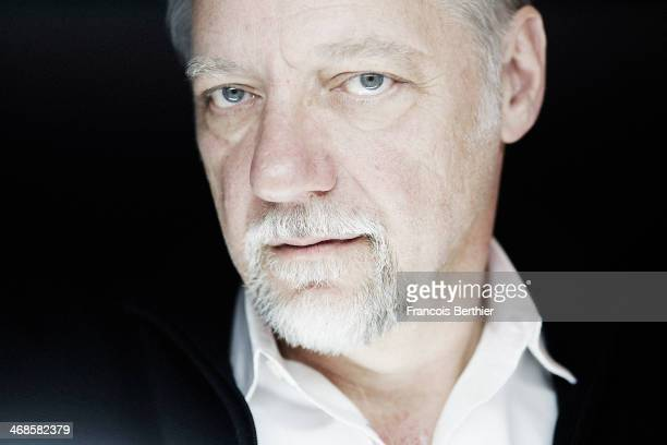 Artist Edward Burtynsky by Photographer Francois Berthier for the Contour Collection poses at the Berlinale Palast during the 64th Berlinale...